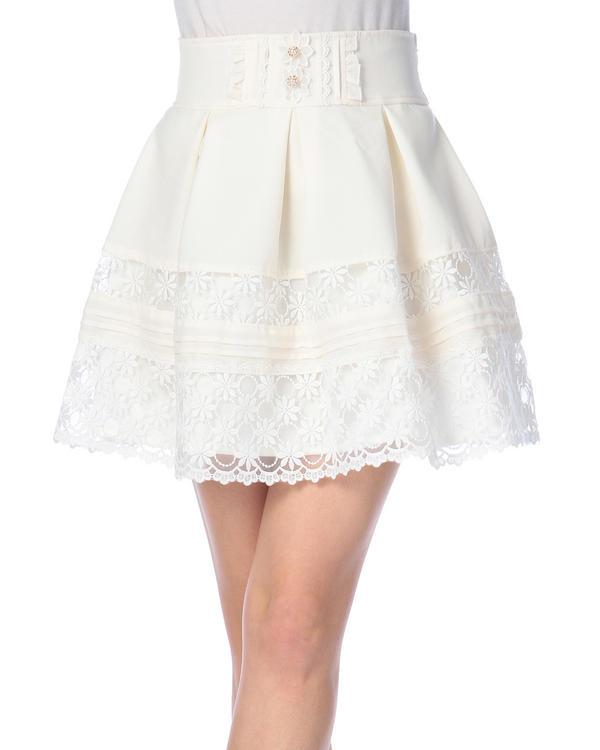 スカート通販〜LIZ LISAブランドの【LIZ LISA】レースフレアスカート