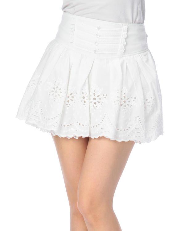 パンツ通販〜LIZ LISAブランドの【LIZ LISA】コットン刺繍スカパン