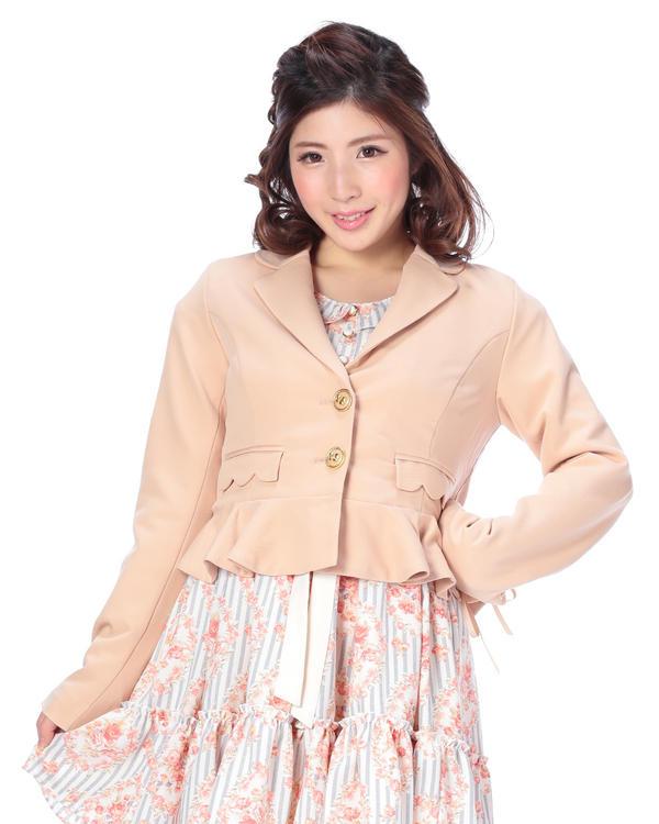 アウター通販〜LIZ LISAブランドの【LIZ LISA】ショートペプラムテーラードジャケット