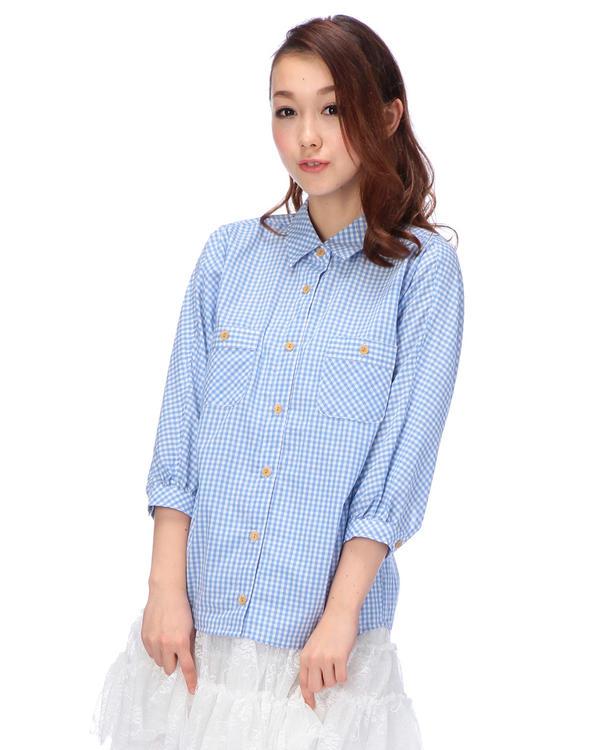 シャツ通販〜LIZ LISAブランドの【Tralala】ギンガムチェックシャツ
