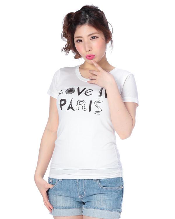 シャツ通販〜LIZ LISAブランドの【Tralala】ラブパリTシャツ