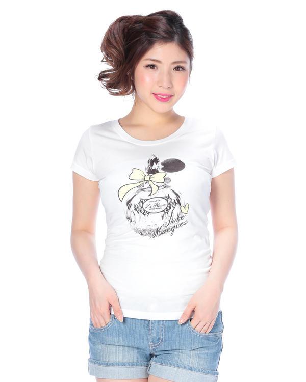 シャツ通販〜LIZ LISAブランドの【Tralala】香水瓶Tシャツ