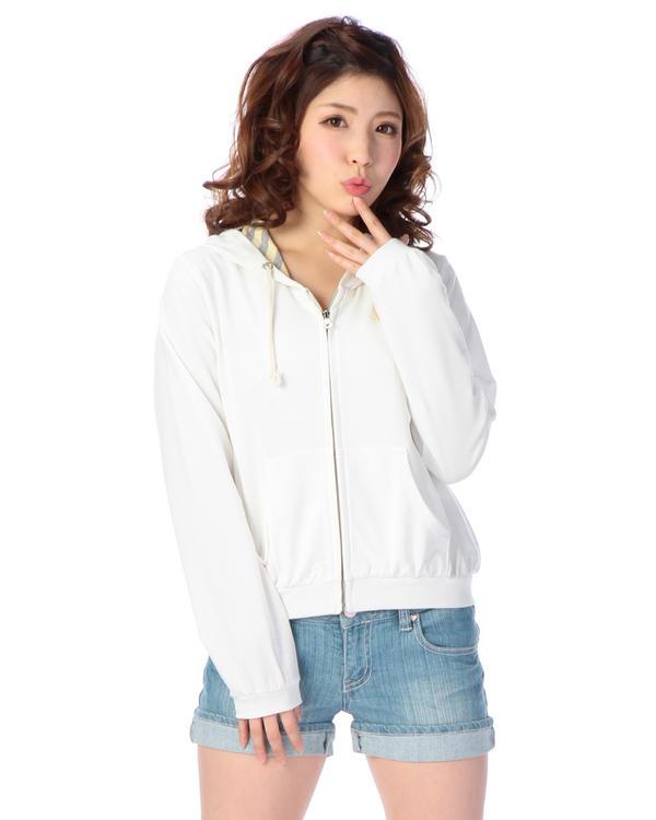 シャツ通販〜LIZ LISAブランドの【Tralala】裏毛×ボーダーパーカ