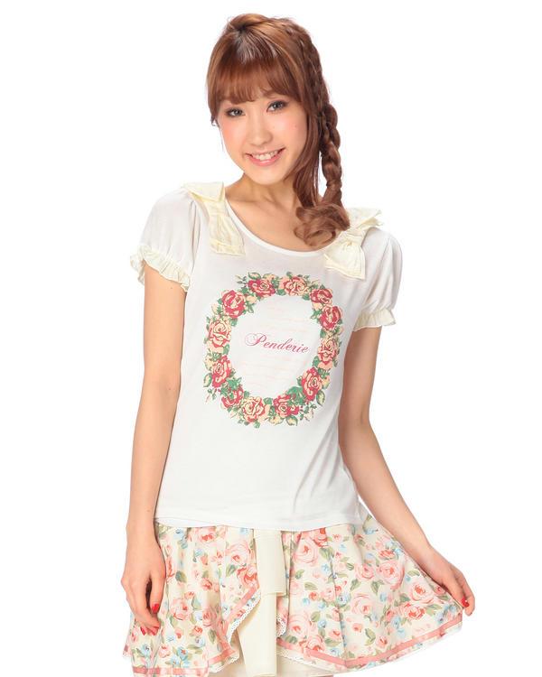 シャツ通販〜LIZ LISAブランドの【Penderie】肩BIGリボンTシャツ