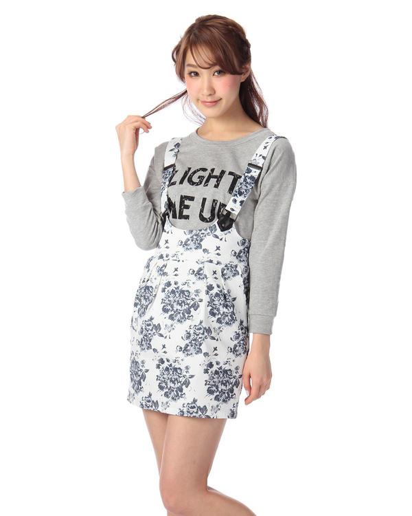 ワンピース通販〜LIZ LISAブランドの【Tralala】花柄ジャンパースカート