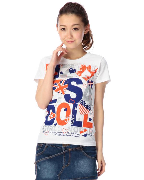 シャツ通販〜LIZ LISAブランドの【LIZ LISA doll】ワールドTシャツ