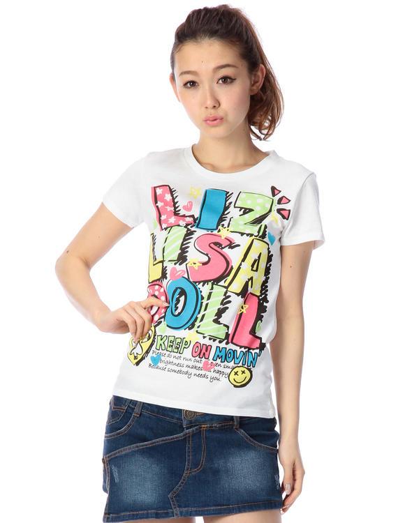 シャツ通販〜LIZ LISAブランドの【LIZ LISA doll】カラフルロゴTシャツ
