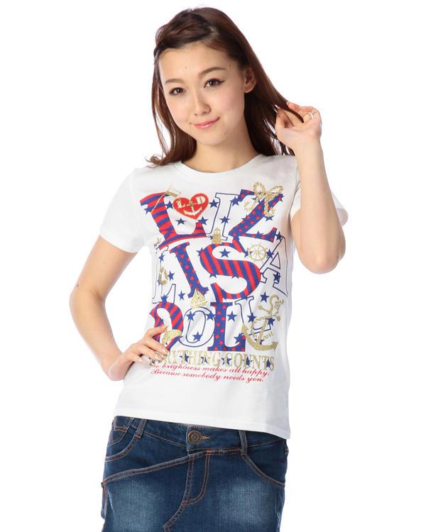 シャツ通販〜LIZ LISAブランドの【LIZ LISA doll】マリンロゴTシャツ