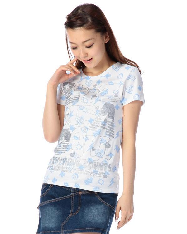 シャツ通販〜LIZ LISAブランドの【LIZ LISA doll】総柄プリントTシャツ