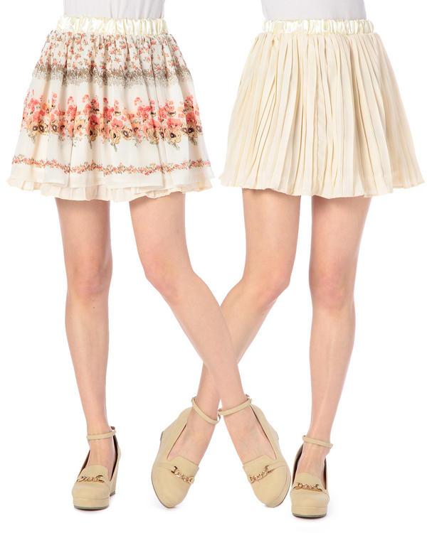 スカート通販〜LIZ LISAブランドの【TRALALA】花パネル柄リバーシブルスカート