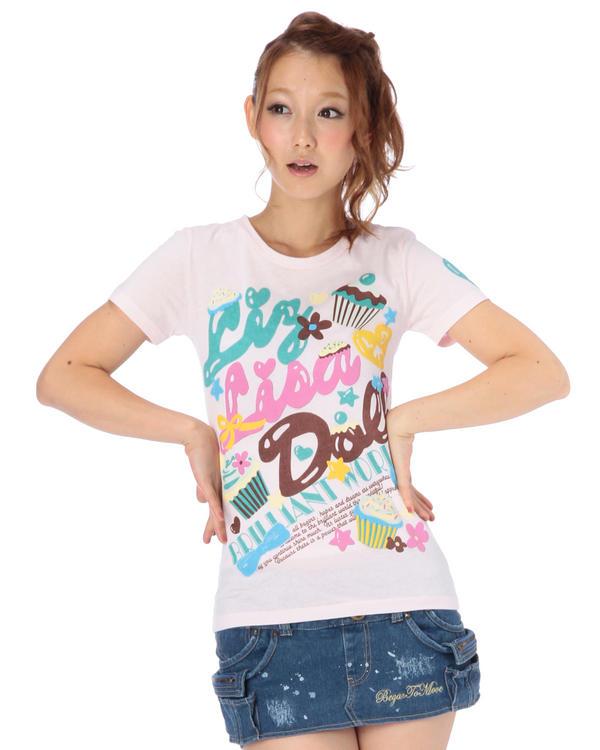シャツ通販〜LIZ LISAブランドの【LIZ LISA doll】カップケーキTシャツ