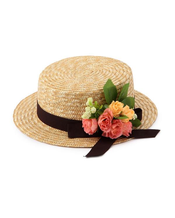 帽子通販〜LIZ LISAブランドの【Tralala】花カンカン帽子