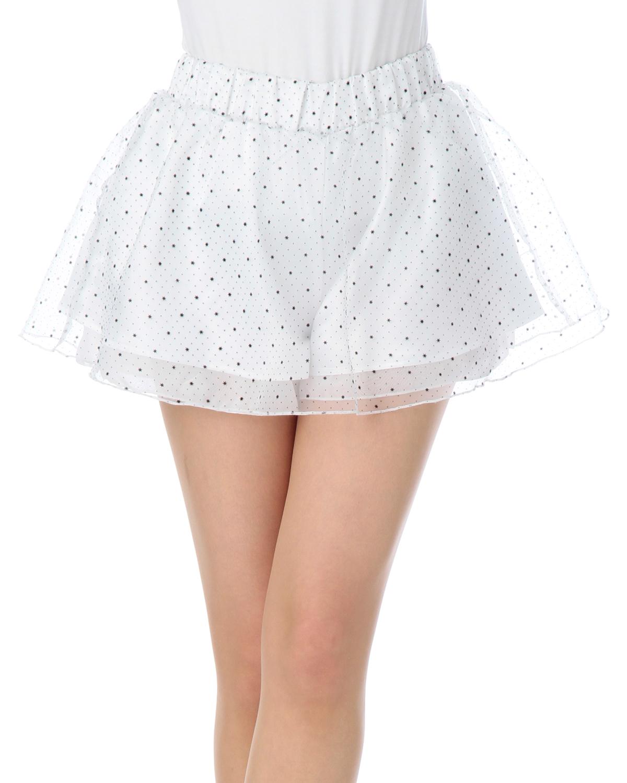 パンツ通販〜LIZ LISAブランドの【LIZ LISA doll】シフォン星キュロット