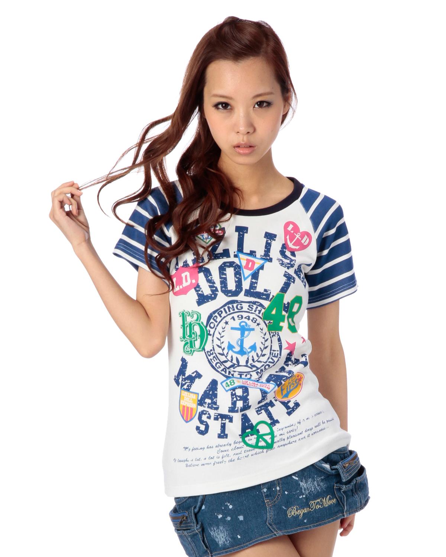 シャツ通販〜LIZ LISAブランドの【LIZ LISA doll】マリンマーク柄T