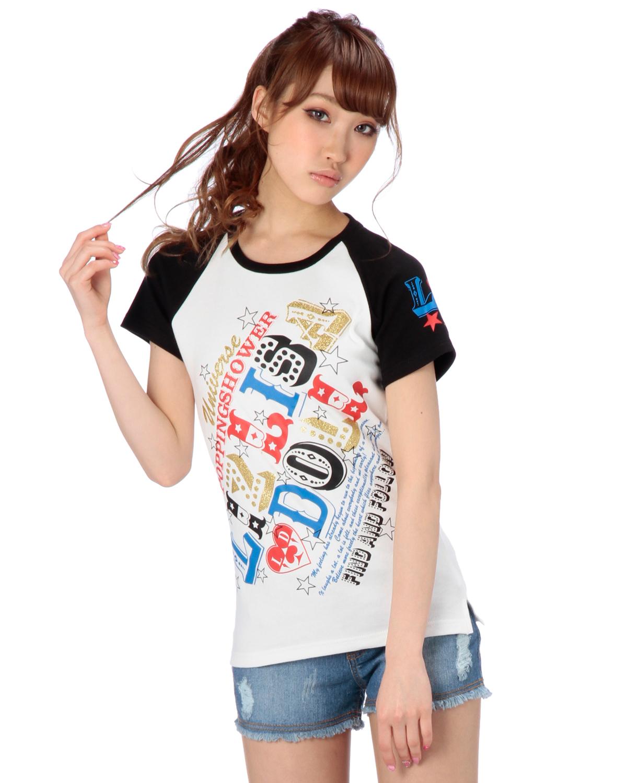 シャツ通販〜LIZ LISAブランドの【LIZ LISA doll】アメリカンラグランT