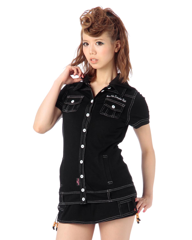 シャツ通販〜LIZ LISAブランドの【LIZ LISA doll】デニムカットSH