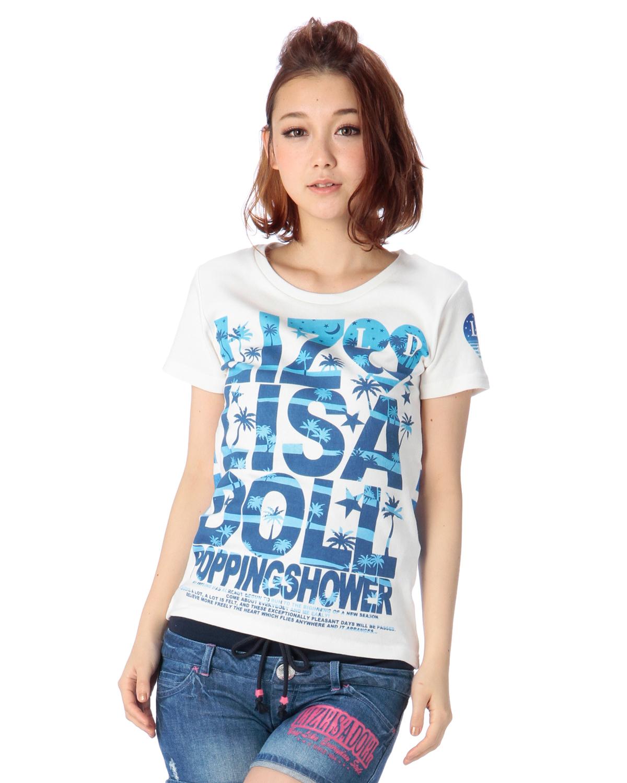 シャツ通販〜LIZ LISAブランドの【LIZ LISA doll】ヤシの木ロゴTシャツ