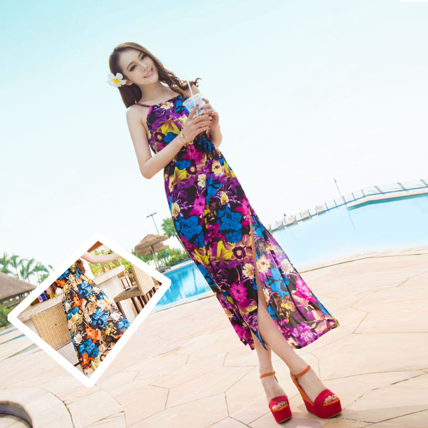 ワンピース通販〜JESSICAブランドの花柄リゾートワンピース【春夏】