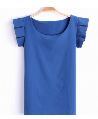 袖がかわいい★シンプルオシャレTシャツ