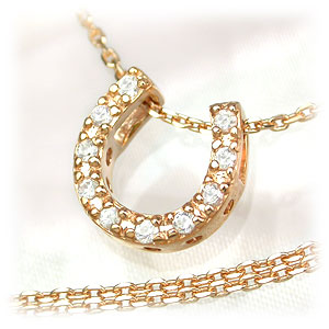 ネックレス通販〜Aqua Jewelryブランドの大好きモチーフを幸運のお守りに…♪「ジルコニア・馬蹄モチーフペンダント(ピンクゴールド)」登場!ToS【RCP】