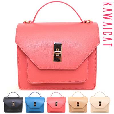 【ba10597】すっきりとしたシルエットが魅力的♪2段デザインクロスバッグ(5カラー)