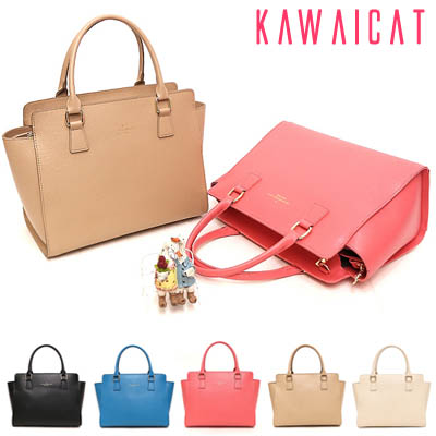 【ba10646】すっきりとしたデザインで上品な印象に仕上がる♪スーツスタイルにも使えるハンドバッグ
