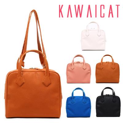 ハンドバッグ通販〜KawaiCatブランドの【ba10712】 装飾のないシンプルなデザインでどんなスタイリングにも合わせやすいシンプルスクエアハンドバッグ(5色)