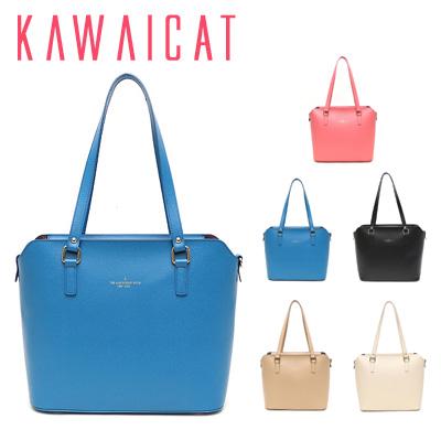 ハンドバッグ通販〜KawaiCatブランドの【ba10735】デイリーからオフィスシーンまで幅広く使えるシンプルデザイントートバッグ(5色)