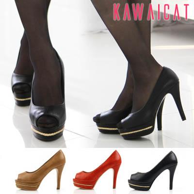 靴通販〜KawaiCatブランドの【sh10948】かかとからヒールにラメレースデザインでエレガント♪パールレース配色パンプスヒール(ストーム : 2.5Cm ヒール : 11Cm)
