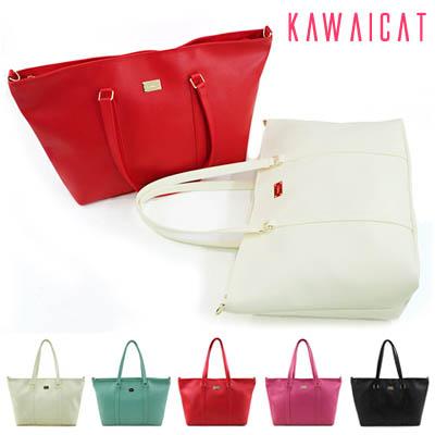 バッグ通販〜KawaiCatブランドの【ba11228】ゆったりサイズで多くの荷物が収納可能♪荷物持ちさんにもピッタリなハンドバッグ