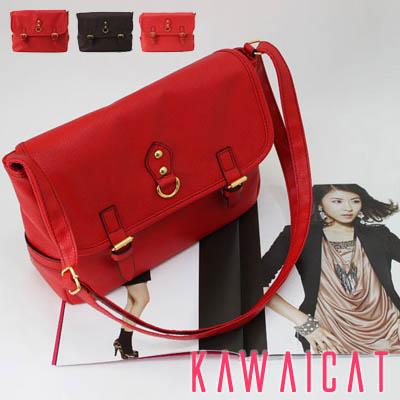 バッグ通販〜KawaiCatブランドの【50%OFF】【ba8974】ベーシックなシンプルデザインのツーバックルデザインのデイリーに使えるバッグ