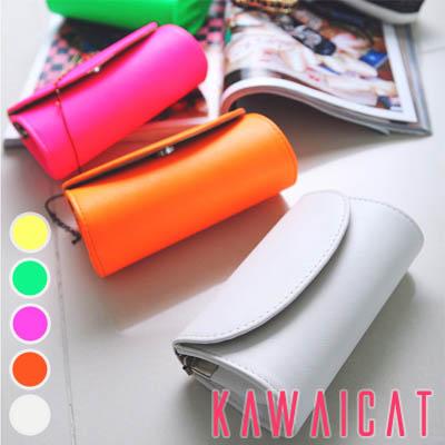 ハンドバッグ通販〜KawaiCatブランドの【C-style】【50%OFF】【ba9017】丸いシルエットでキュートな印象のミニバッグ♪ショルダーストラップ付きのクラッチバッグ(5カラー)