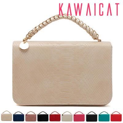 ハンドバッグ通販〜KawaiCatブランドの【50%OFF】【ba9147】チェーンバッグとしてもクラッチバッグとしても使える2パターン楽しめるチェーンハンドクラッチスクエアバッグ(10色)