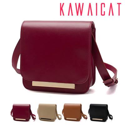 ハンドバッグ通販〜KawaiCatブランドの【50%OFF】【ba9348】ほのかな光沢感で上品な印象を与えてくれるメタルポイントショルダーバッグ(4色)