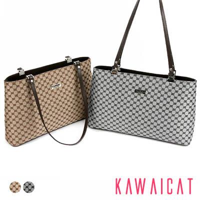 ハンドバッグ通販〜KawaiCatブランドの【50%OFF】【ba9460】 洗練されたモダンな印象を与えてくれるジャガード生地がエレガント♪実用的なモダンパターン柄デザインのバッグ