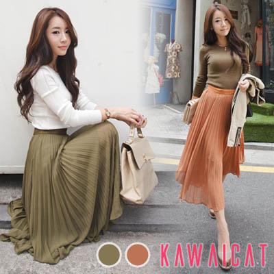 【50%OFF】【sk9652】ロマンチックでエレガンスなスタイルが魅力的♪プリーツディティールのシフォンマキシ丈スカート