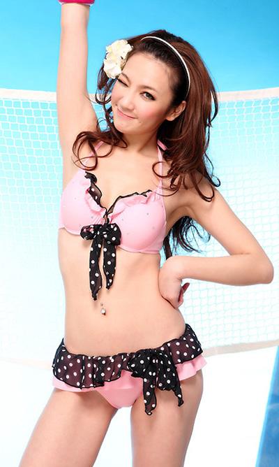 ピンクとストーンドットビキニ【水着】【みずぎ】【ミズギ】【mizugi】【水着コーデ】【bikini】【SWIMWEAR】【スイムウェア】【女性】【レディース】【プチプラ】【新作】【激安】【可愛い