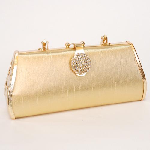 【結婚式・二次会】ハンドバッグ/ショルダー2way/ゴールド【クラッチバッグ・ハンドバック・クラッチバック・パーティーバッグ】