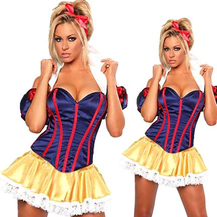 【ハロウィン】白雪姫/プリンセス/コスチューム【コスプレ/ハロウィン衣装/コスチューム/仮装/衣装/パーティー/セクシーコスチューム/Halloween】