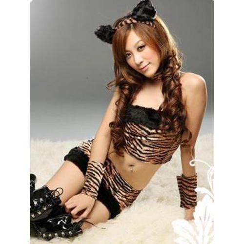 【ハロウィン】タイガー/アニマル/コスチューム【コスプレ/ハロウィン衣装/コスチューム/仮装/衣装/パーティー/セクシーコスチューム/Halloween】