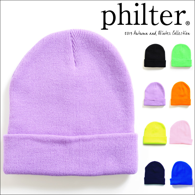 philter(フィルター)[★A/W新作]カラービーニー(ニット帽/ニットキャップ/帽子/レディース)【入荷済】
