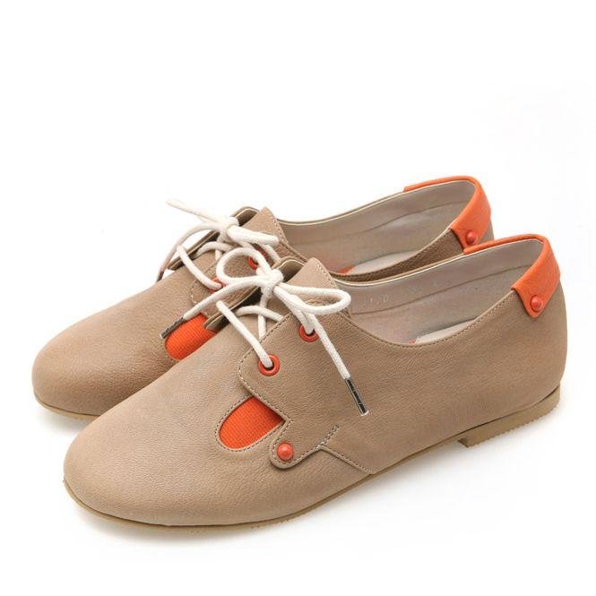 靴通販〜BABARA JAPANブランドの[BABARA] BB4120 BE/フラットシューズ/ペタンコ