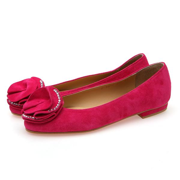 靴通販〜BABARA JAPANブランドの[BABARA]MIRIAN PK (B3517) フラットシューズ/ぺたんこ/ピンク