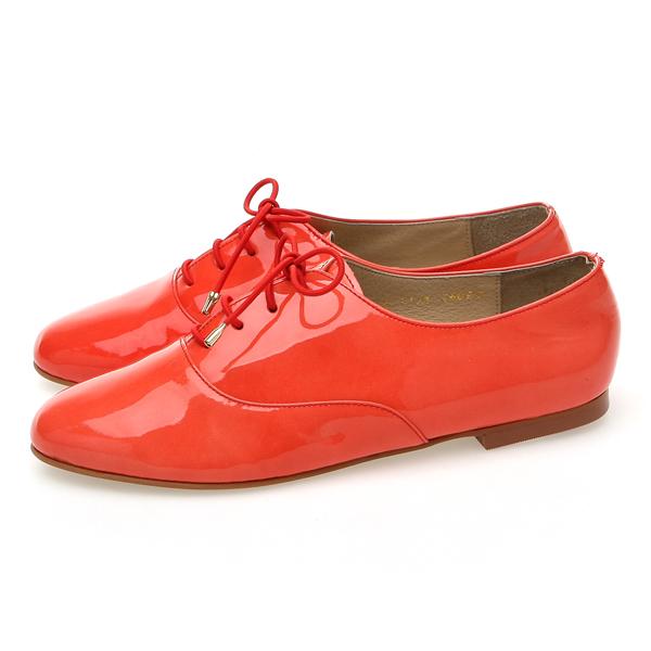 靴通販〜BABARA JAPANブランドの[BABARA] CAROL RE (B1136) ぺたんこ/オレンジ