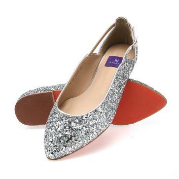 靴通販〜BABARA JAPANブランドの[BABARA] BB4133 SI/フラットシューズ/ペタンコ