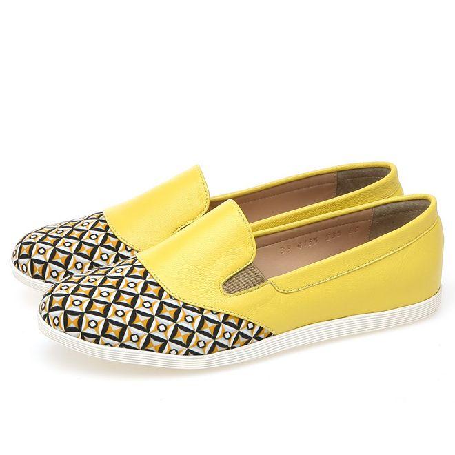 靴通販〜BABARA JAPANブランドの[BABARA] BB4155 YE/フラットシューズ/ペタンコ/スリッポン/パステルカラー/イエロー