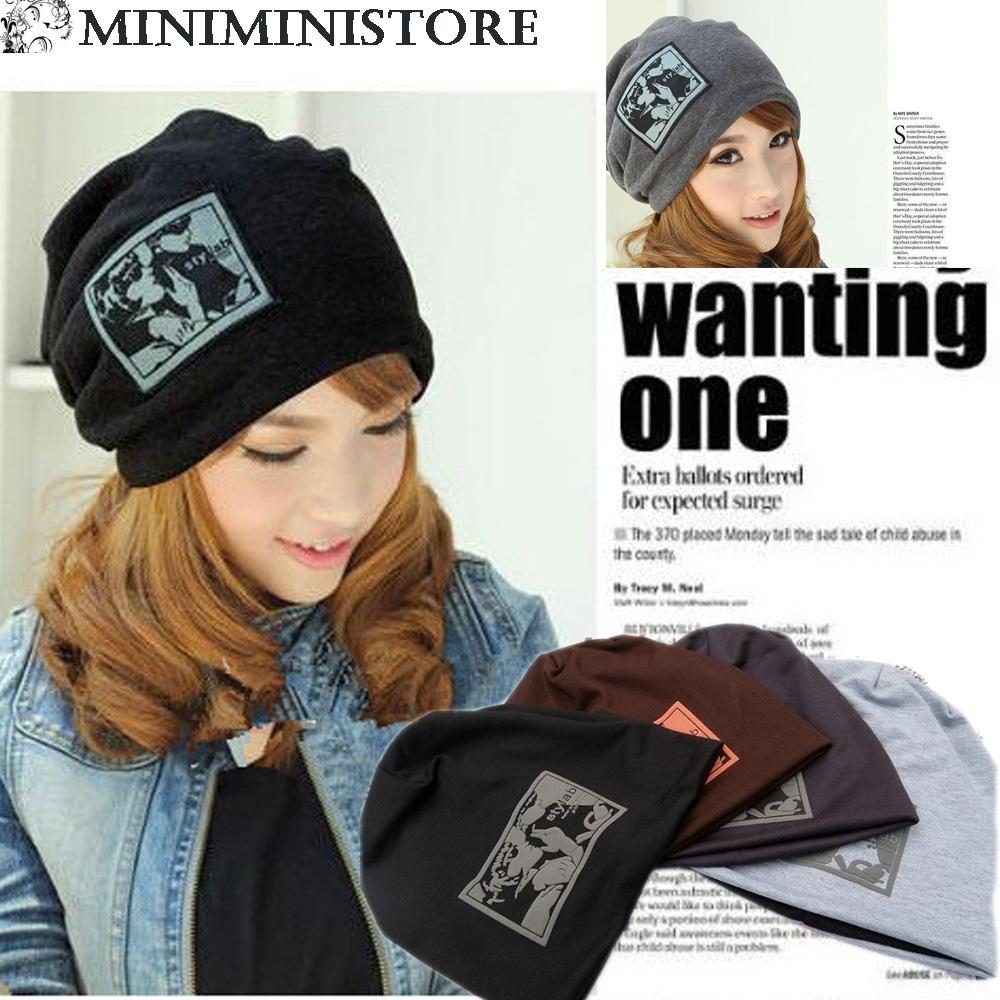 レディースニット帽子メンズキャップスウェット帽子/オシャレキャップ/ Cap メンズ全4色