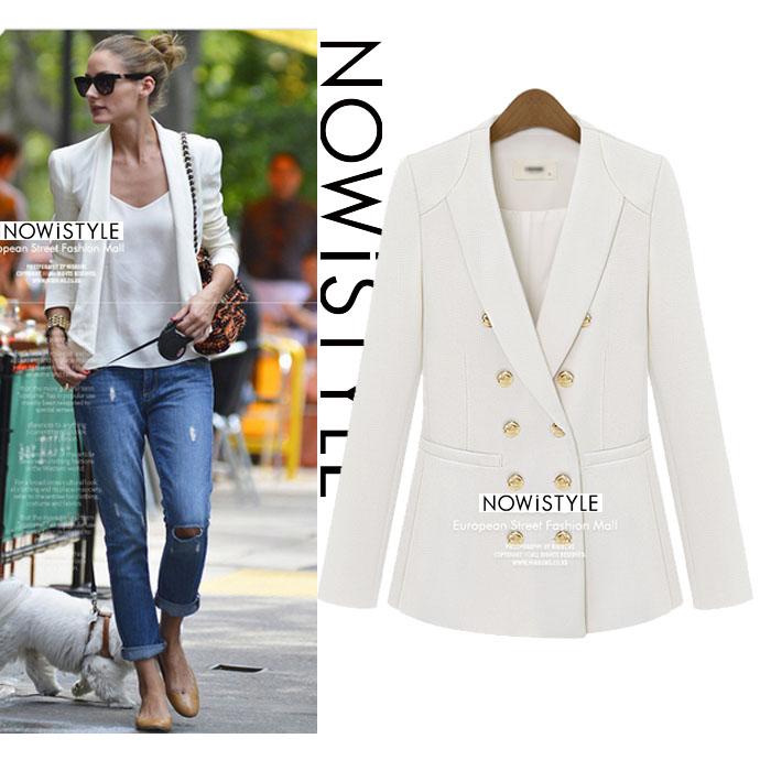 ダブルゴールドボタンクラシックジャケット/コート/春/セレブファッション/ジャケット/韓国ファッション