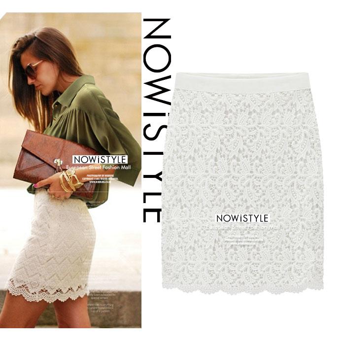 フラワーレーススリムミニスカート/春/セレブファッション/韓国ファッション