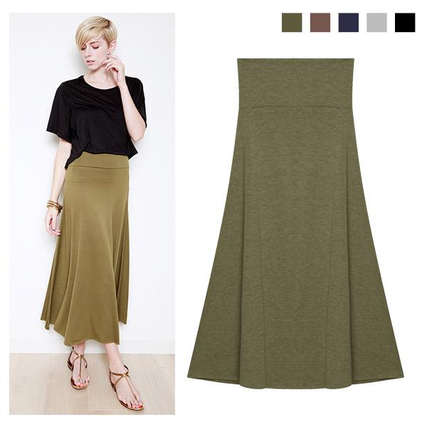 UV加工マキシスカート/大きいサイズ/春夏/ハイウエスト/セレブファッション